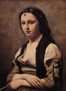 Jean Baptiste Camille Corot - Woman with a Pearl 1