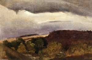 Jean Baptiste Camille Corot - Wooded Plateau, Fountainebleau
