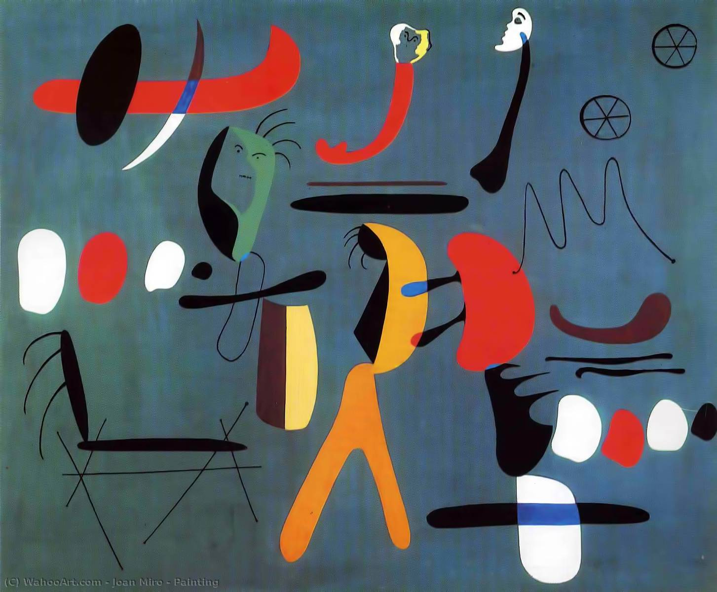 Painting, 1933 by Joan Miro (1893-1937, Spain) | Paintings Reproductions Joan Miro | WahooArt.com