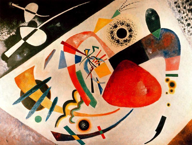Red Spot II, Oil by Wassily Kandinsky (1866-1944, Russia)