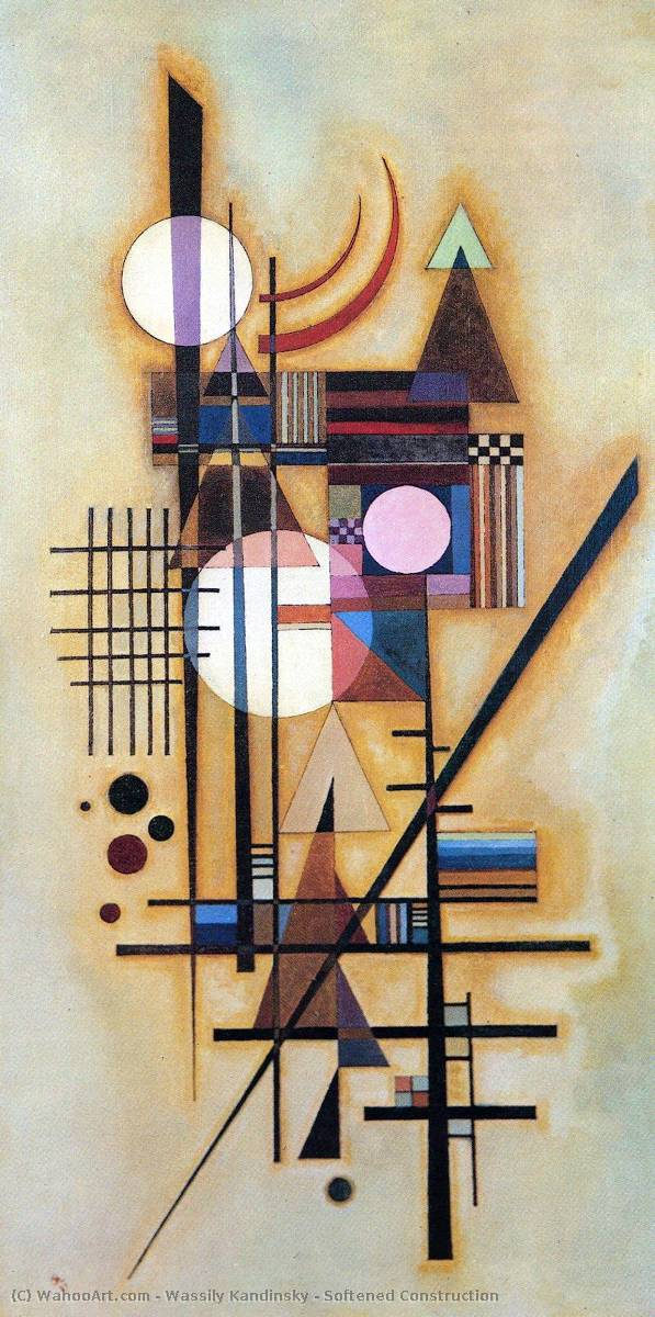 Softened Construction by Wassily Kandinsky (1866-1944, Russia) | Art Reproduction | WahooArt.com