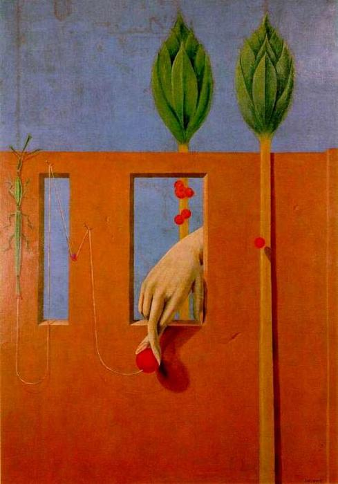At the first clear word, Oil On Canvas by Max Ernst (1891-1976, Germany)