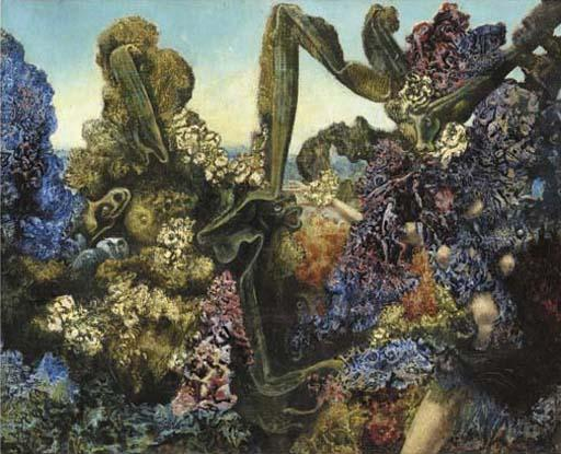 Convolvulus! Convolvulus!, Oil by Max Ernst (1891-1976, Germany)