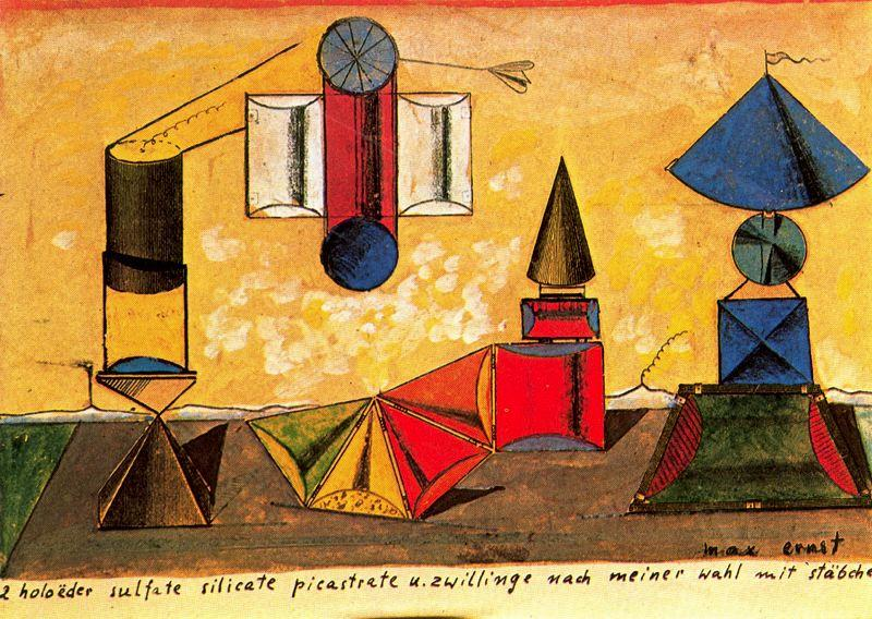 Holoëder sulfate..., Oil by Max Ernst (1891-1976, Germany)