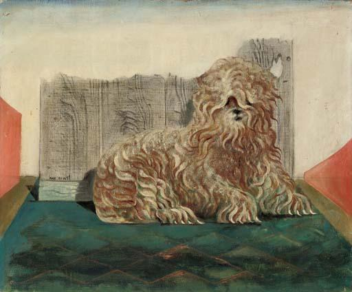Kachina, le chien de Peggy Guggenheim, Oil by Max Ernst (1891-1976, Germany)