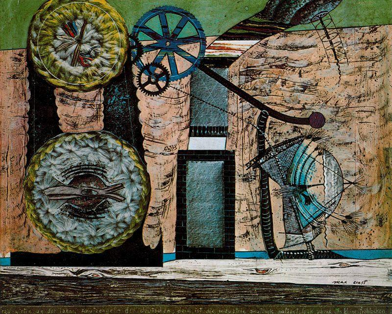 La taberna a las orillas del Lahn by Max Ernst (1891-1976, Germany) | Famous Paintings Reproductions | WahooArt.com