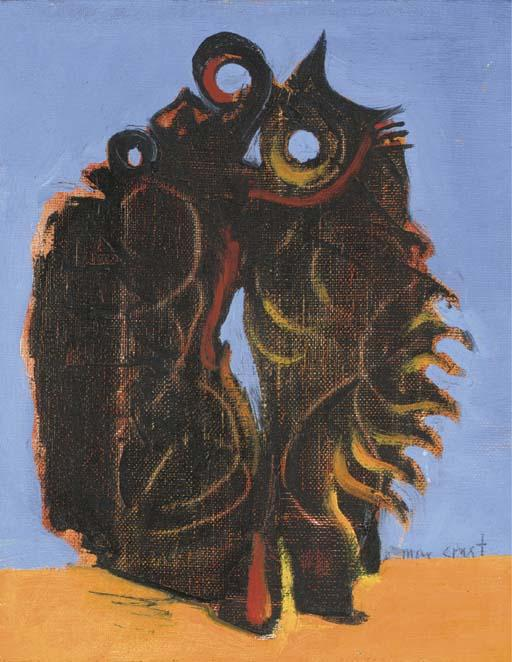 Oiseaux 1, Oil by Max Ernst (1891-1976, Germany)