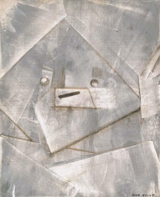 Tête, Oil by Max Ernst (1891-1976, Germany)
