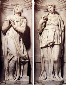Michelangelo Buonarroti - Rachel and Leah