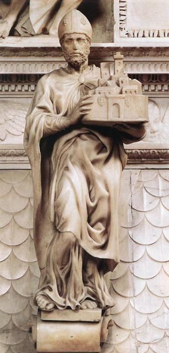 St Petronius, Sculpture by Michelangelo Buonarroti (1475-1564, Italy)
