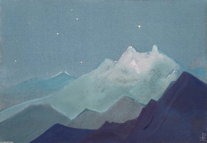 Nicholas Roerich - Himalayas (Moonlit Mountains)