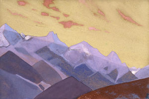 Nicholas Roerich - Mountain Range. Approach to Everest