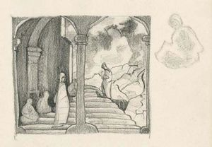 Nicholas Roerich - Scenery sketch for stage design 1