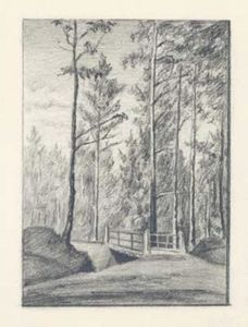 Nicholas Roerich - Second bridge on road to threshing floor in State Forest