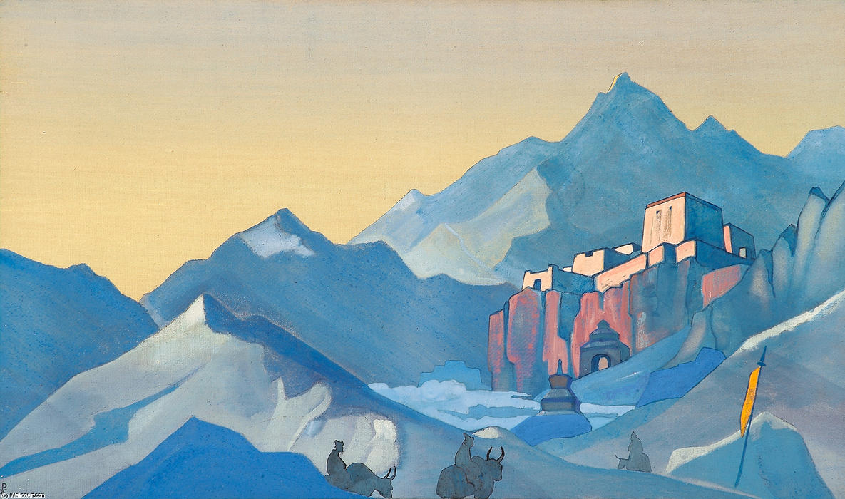 Stronghold of the Spirit 1 by Nicholas Roerich (1874-1947, Russia) | Museum Art Reproductions Nicholas Roerich | WahooArt.com