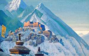 Order Museum Quality Reproductions : Tibet. Himalayas., 1933 by Nicholas Roerich (1874-1947, Russia) | WahooArt.com