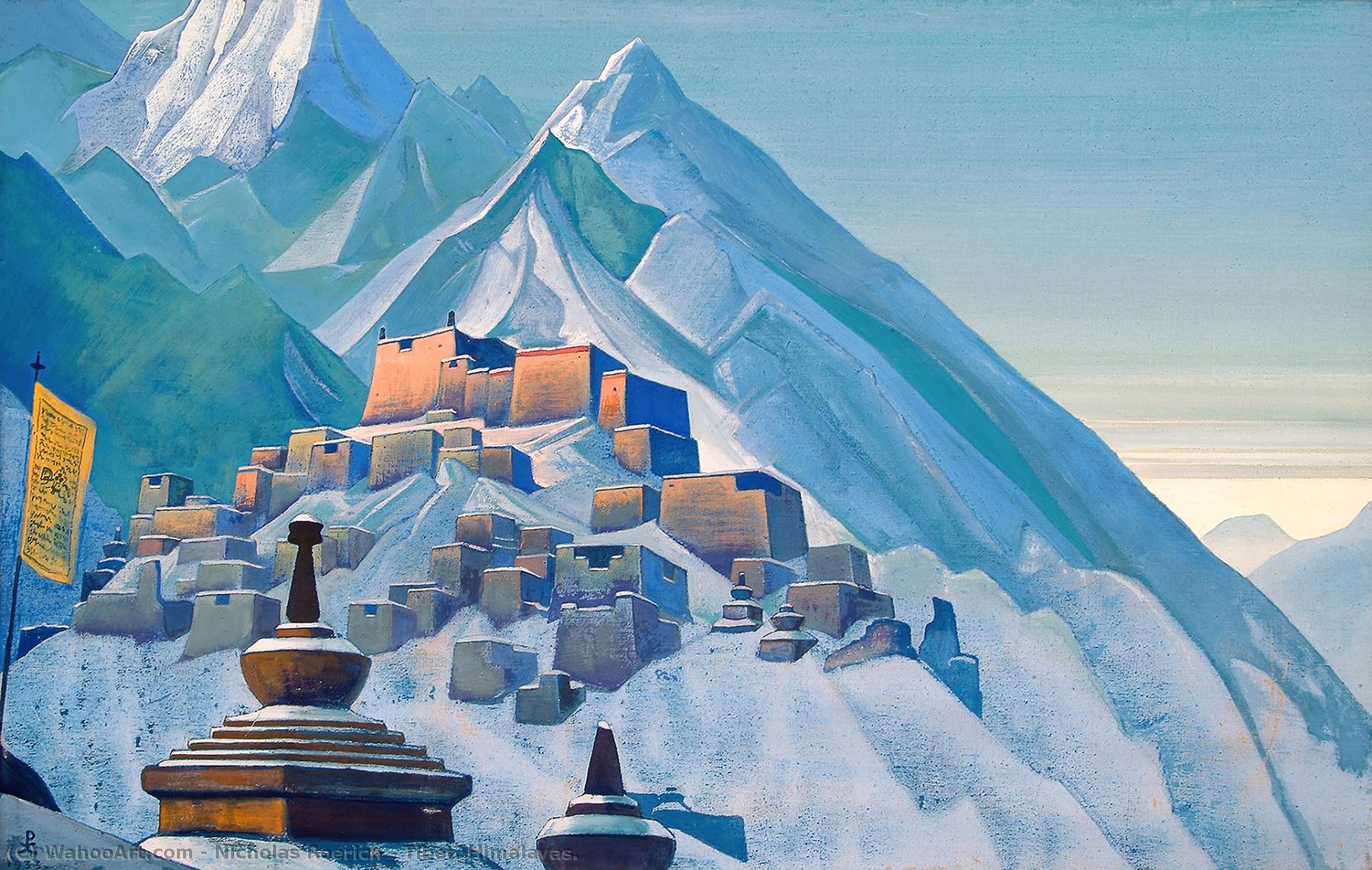 Tibet. Himalayas., Tempera by Nicholas Roerich  (order Fine Art Framed Giclee Nicholas Roerich)