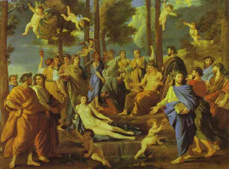 Parnasus, 1626 by Nicolas Poussin (1594-1665, France) | Art Reproduction | WahooArt.com