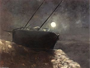 Odilon Redon - Boat in the Moonlight