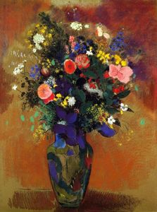 Odilon Redon - Large Bouquet of Wild Flowers