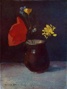 Odilon Redon - Pitcher of Flowers