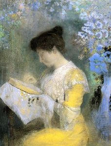 Odilon Redon - Portrait of Madame Arthur Fontaine