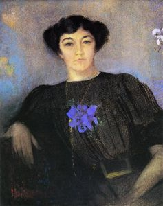 Odilon Redon - Portrait of Madame Gustave Fayet