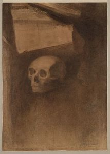Odilon Redon - Through the Crack a Death-s-Head Was Projected