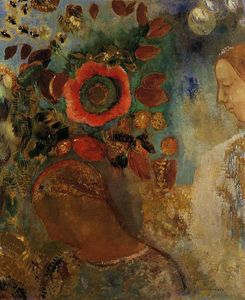 Odilon Redon - Two Young Girls among the Flowers