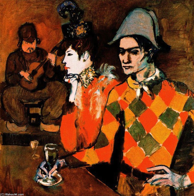 At the ``Lapin Agile``, 1905 by Pablo Picasso (1881-1973, Spain) | Museum Quality Reproductions | WahooArt.com