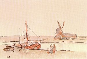 Pablo Picasso - Boat on a channel