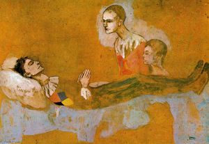 Pablo Picasso - Death of the Harlequin