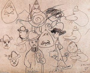 Pablo Picasso - Engraved Portrait of Alfred Jarry