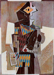 Pablo Picasso - Harlequin with violin