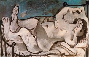 Pablo Picasso - Lying Naked woman 3