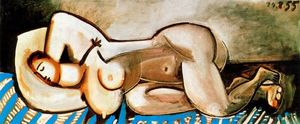 Pablo Picasso - Lying Naked woman 5