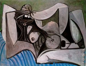 Pablo Picasso - Lying Naked woman