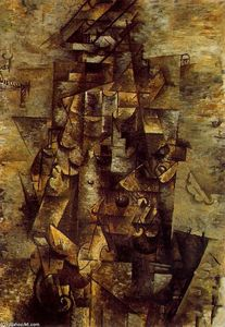 Pablo Picasso - Man with a Guitar 1