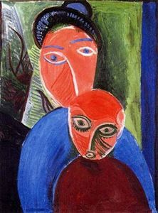 Pablo Picasso - Mother and son
