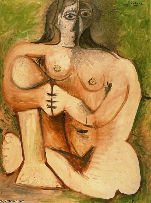 Picasso, Pablo Mujer desnuda sentada ante una cortina