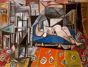 Pablo Picasso - Naked woman in the workshop