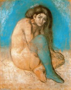Pablo Picasso - Nude woman with crossed legs