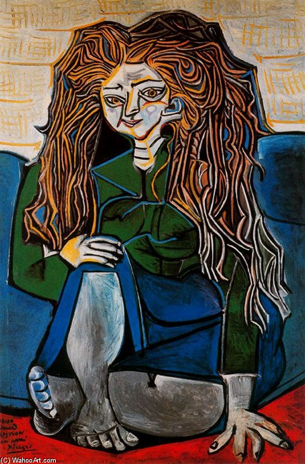 Portrait of Madame H.P by Pablo Picasso (1881-1973, Spain) | Museum Quality Reproductions | WahooArt.com