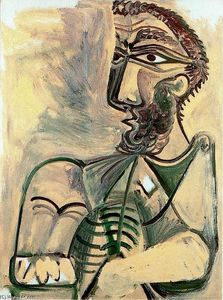 Pablo Picasso - Seated man 3