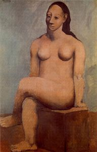Pablo Picasso - Seated nude woman with crossed legs