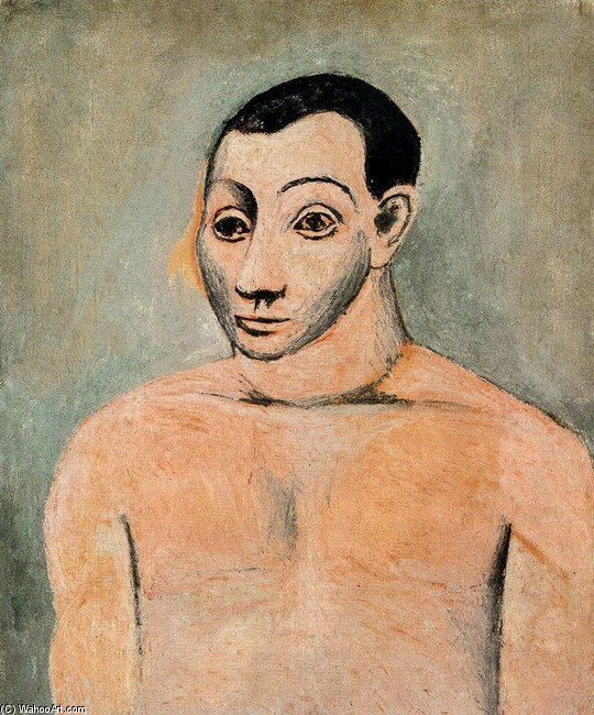 Self-portrait 1 by Pablo Picasso (1881-1973, Spain) | Oil Painting | WahooArt.com