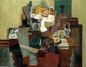 Pablo Picasso - Still life with fruits on the table