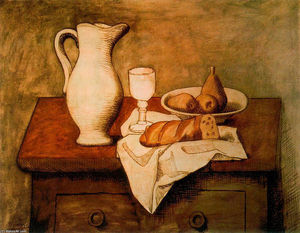 Pablo Picasso - Still life with jug and bread