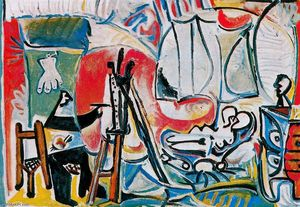 Pablo Picasso - The painter and his model 13