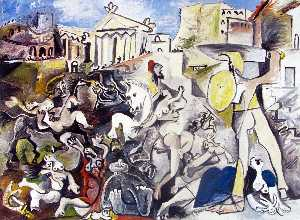 Pablo Picasso - The Rape of the Sabine Women 1